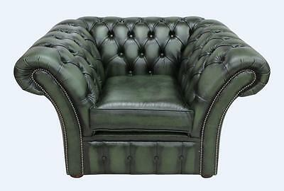 Chesterfield Balmoral 1 Seater Antique Green Leather Club Chair