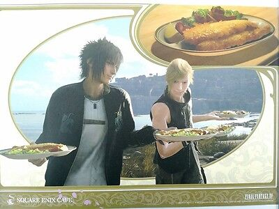 Final Fantasy XV Luncheon Mat Noctis Prompto Square Enix Cafe Limited Game F/S
