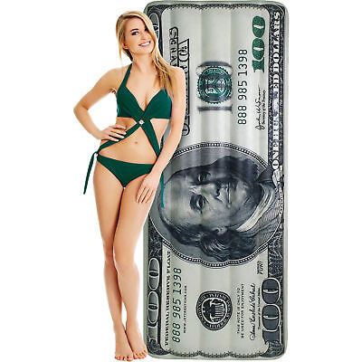 Inflatable Pool Float - 100 Dollar Bill