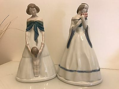 Coppia di dame in porcellana. Two Ladies Rosenthal porcelain1922 A. Caasmann
