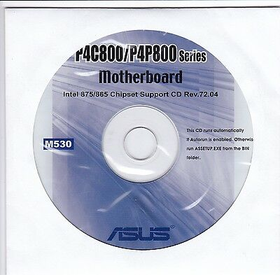 ASUS P4C800 & P4C800 Motherboard Drivers Installation Disk M530 & MANUALS