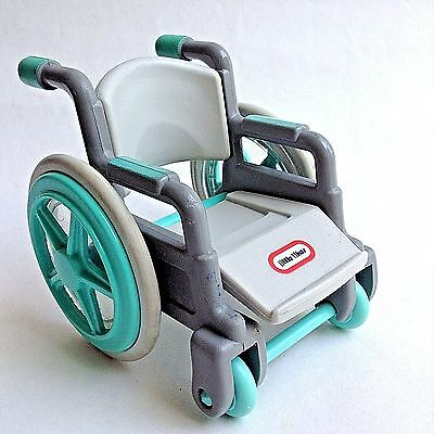 Little Tikes Wheelchair Dollhouse Accessory Figure Mobility Access Green Gray