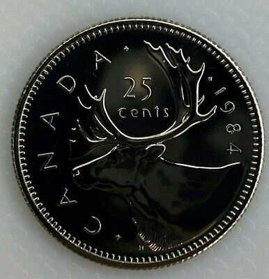 1984 Canada 25 Cents Proof-Like Coin