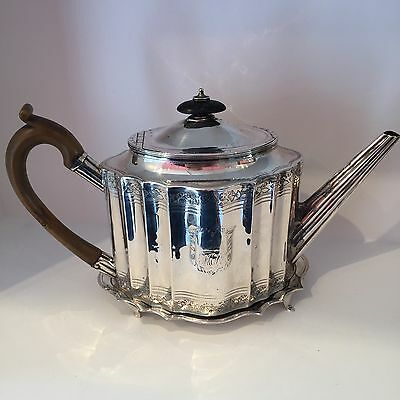 Antique 1793 Georgian Silver Hallmarked Teapot & Matching Silver Stand LONDON
