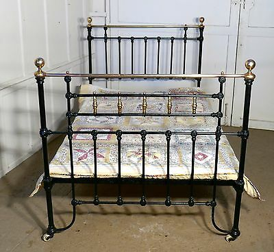 Victorian Brass and Iron Small Double Bed
