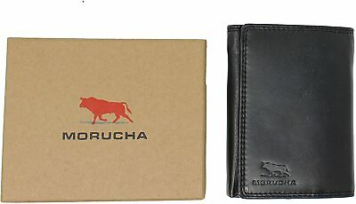 Primehide Mens Luxury Real Leather Compact Wallet Credit Card Holder Black 5001