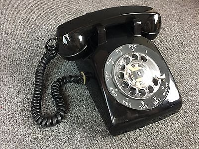 Vintage Western Electric Black Rotary Dial SW Bell System 500DM Telephone Phone