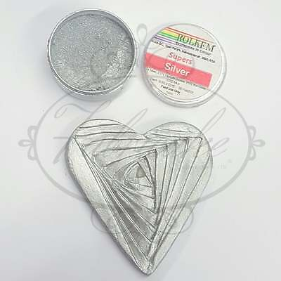 Rolkem Super Colour Cake Decorating Sugarcraft Dust Food Colouring 10ml – Silver