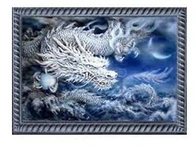 Blue Dragon Mosaic Diamond Painting Kit 50 x 30 cm like cross stitch