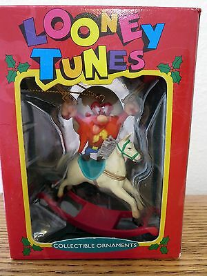 Looney Tunes Yosemite Sam Rocking Horse Christmas Ornament in Box