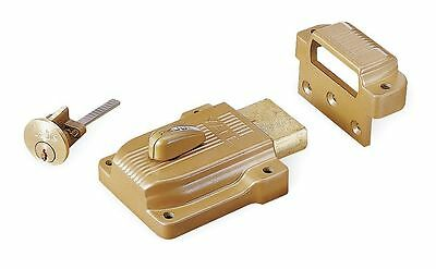 "Yale Brass Rim Lock, Heavy-Duty, For Door Thickness 1-3/8"" to 2-1/4"" - 112"