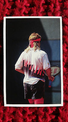 TENNIS : ANDRE AGASSI 1991 QUESTION OF SPORT QOS QS trade card
