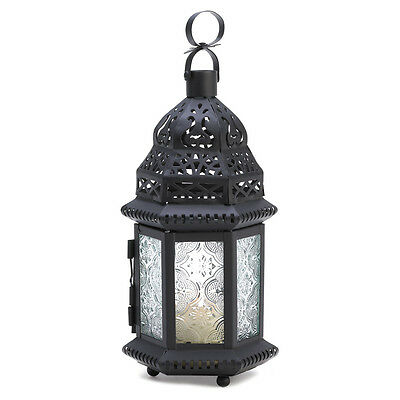 Candle Lantern Collectible Winter Fire Metal Artwork Iron and Glass Lovely WOW