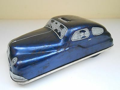 VINTAGE 1950s TINPLATE METTOY FRICTION POLICE CAR MT3320