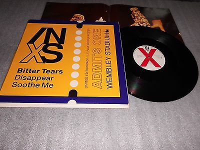 "INXS 'Bitter Tears' 12"" Single Limited Edition With Poster Mercury Records"