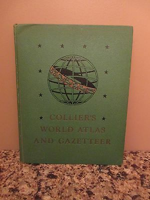 1949 COLLIER'S WORLD ATLAS AND GAZETTEER States Countries Maps Constellations
