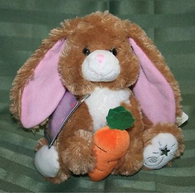 Russ Berrie Shining Stars HONEY BUNNY Plush Easter Rabbit Soft!! NEW with tags!