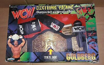 Manley Toy Quest Goldberg Wwc Electronic Talking Champion Belt And Wrestling Set