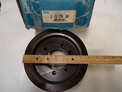 "MARTIN 3 C 75 SF 3C75SF SHEAVE ""NEW"" 3 groove for C Belt 7.9"" OD"