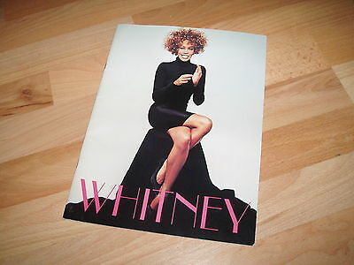WHITNEY HOUSTON - 1986 The Greatest Love World Tour Programme / Book  RARE !