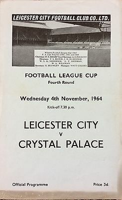 1964 - Leicester City v Crystal Palace - League Cup 4th Rnd