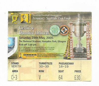 Ticket 2005 Scottish Cup Final - CELTIC v. DUNDEE UNITED