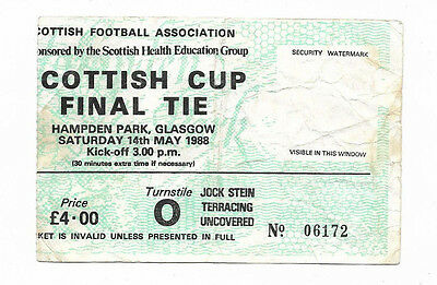 Ticket 1988 Scottish Cup Final - CELTIC v. DUNDEE UNITED