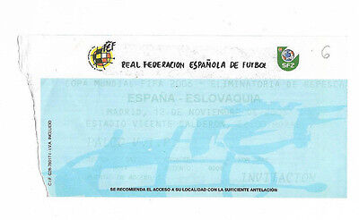 Ticket 2005 World Cup Qualifier - SPAIN v. SLOVAKIA