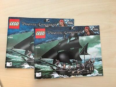 LEGO 4184 Black Pearl Instructions Manuals / Books Pirates of the Caribbean