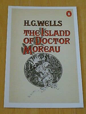 Penguin Sci-Fi Book Cover Postcard  'the Island Of Doctor Moreau'  By H.g.wells