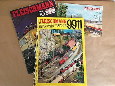 Fleischmann HO 9911 track plans with English translation and two catalogues