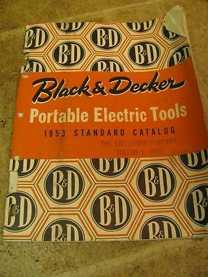 Vintage 1953 Black & Decker Portable Electric Tools Catalog Manual Drill Hammer