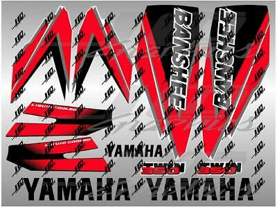yamaha banshee full graphics decals kit 1998 ... red..