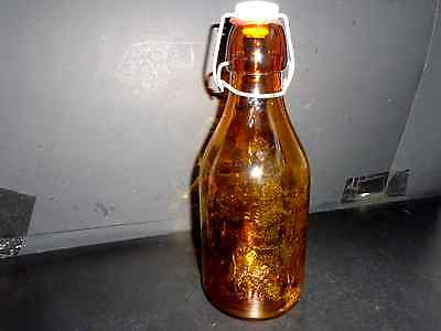 Antique Yellow Glass Milk Bottle