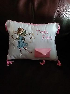 tooth fairy pillow with pocket for tooth and reward EUC