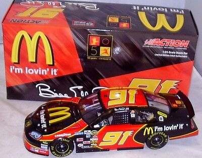 Bill Elliott #91 McDonalds 2005 Dodge Action 1/24 Scale NASCAR Cup Diecast