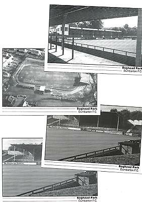 4 postcards Dumbarton FC's old ground Boghead Park ground by Newlands,