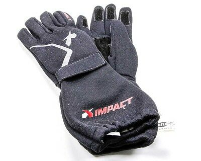 Impact Racing Large Black Double Layer Redline Driving Gloves P/N 37500510