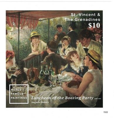 St Vincent Grenadines - 2016 Art Famous Paintings Auguste Renoir - S/S MNH