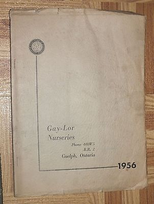 GAY-LOR NURSERIES 1956 Spring Seed Catalog Guelph Ontario Flowers Vegetables
