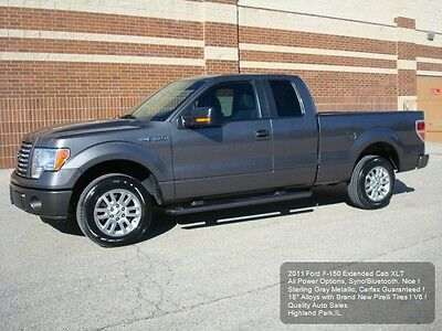 """2011 Ford F-150 XLT SuperCab 2011 FORD F-150 EXTENDED CAB XLT NEW 18"""" TIRES ALLOYS BLUETOOTH CARFAX LOADED !"""