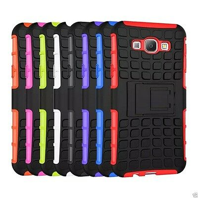 Shock Proof Heavy Duty Tough Armour Defender Hybrid Stand Case for Mobile Phones