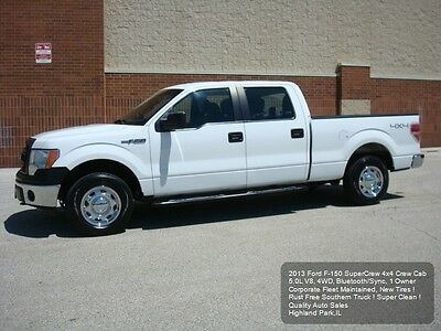 2013 Ford F-150 SuperCrew 4x4 2013 FORD F-150 4X4 CREW CAB F150 4WD 5.0L V8 RUST FREE NEW TIRES 1 OWNER NICE !
