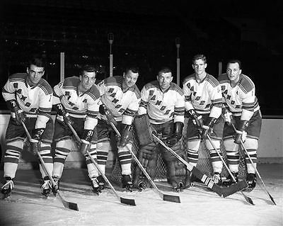 Gump Worsley,Doug Harvey, Andy Bathgate New York Rangers Unsigned 8x10 Photo