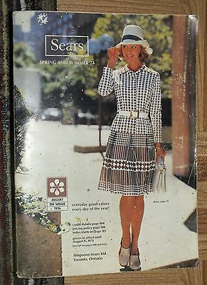 SIMPSON SEARS Spring Summer 1974 Catalog Department Store Canada Book