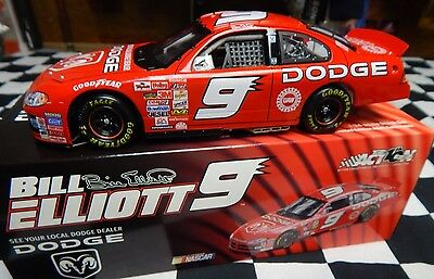Bill Elliott #9 Dodge 2002 Action 1/24 Scale NASCAR Cup Diecast