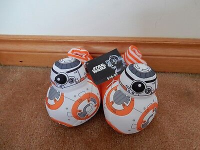 STAR WARS BB-8 Kids slippers BRAND NEW WITH TAGS FREE USPS SHIPPING