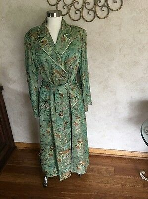 Beautiful Vintage Japanese Women's Silk Robe    SZ M/L