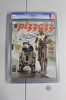 RARE CGC 9.4 PIZZAZZ #1 Marvel Magazine 1977 STAR WARS Tarzan comics KISS NM HTF