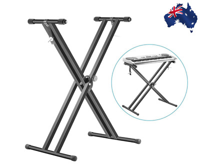 Folding Double Braced X Style Music Piano Keyboard Stand NEW